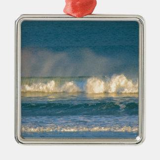 Ozean-Wellen-Spray Silbernes Ornament