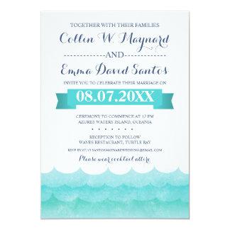 Ozean-Wellen-Strand-Hochzeits-Einladungen