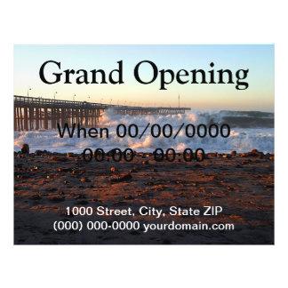 Ozean-Wellen-Sturm-Pier Bedruckte Flyer