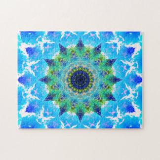 Ozean-wellenartig bewegende Stern-Mandala Puzzle