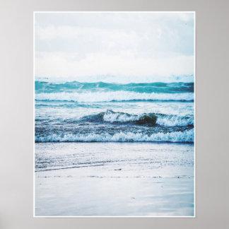 Ozean-Wellenversion 2 Fotografie-Plakat-Druck Poster