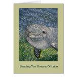 Ozeane des Liebe-Geburtstages: Delphin unter Wasse Karte