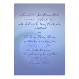 Ozeane von Liebe Wedding Visitenkartenvorlage