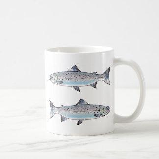Ozeanfischillustration der atlantischen Lachse Kaffeetasse