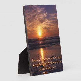 Ozeansonnenuntergang Fotoplatte