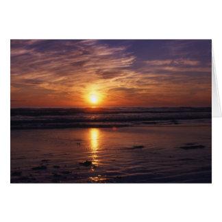 Ozeansonnenuntergang Geburtstagskarte Karte
