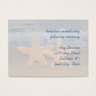 Ozeanstarfish-Hochzeits-Empfangs-Karten Visitenkarte