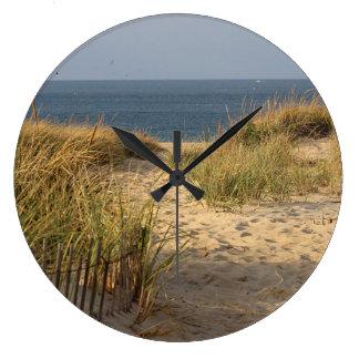 Ozeanstrand und Sanddünen Große Wanduhr