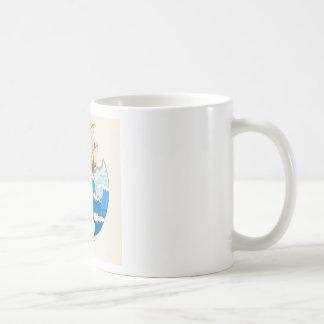 Ozeanszene mit Segelboot Kaffeetasse