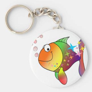 Ozeanthunfisch des Regenbogens multi Farb Schlüsselanhänger