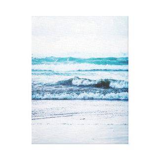 Ozeanwellen-Version 2 Fotografie-Leinwand Leinwanddruck