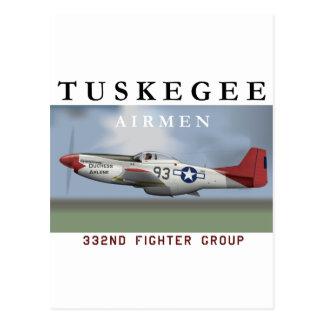 P51D roter Schwanzkämpfer geflogen von Tuskegee Postkarte