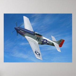 """P-51D """"Cripes A mächtig """" Poster"""