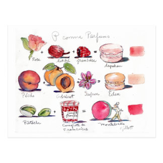 P comme Parfum Macaron Postkarten