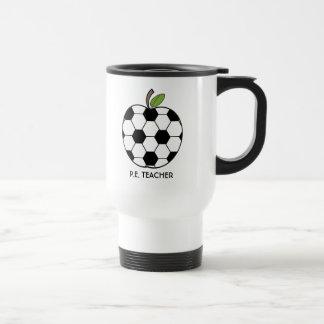 P.E. Lehrer-Tasse - Fußball-Ball Apple
