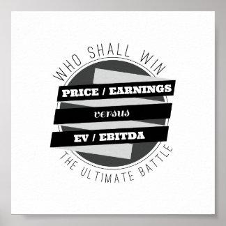 P/E Verhältnis gegen EV/EBITDA Verhältnis Poster