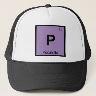 P - Pocatello Stadt-Idaho-Chemie-Periodensystem Truckerkappe