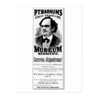 P.T. Barnums große reisende Museums-Menagerie Postkarte