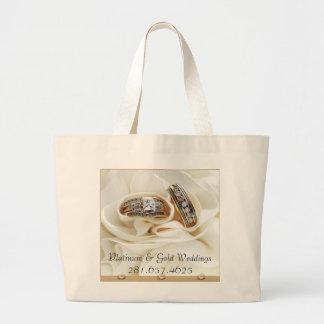 P- u. G-Hochzeits-Taschen-Tasche Jumbo Stoffbeutel