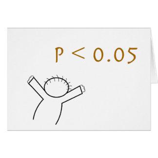 P-Wert Karte für Statistiker
