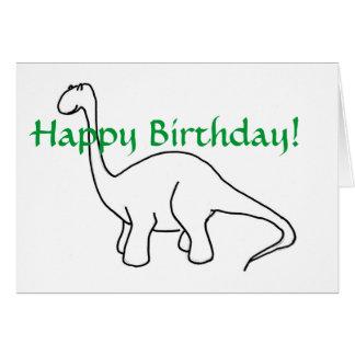PA, alles Gute zum Geburtstag! Dinosaurier-Karte Karte