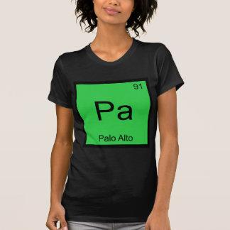PA - Palo Alto-Chemie-Element-Symbol-Stadt-T-Stück T-Shirt