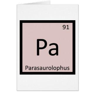PA - Parasaurolophus Dinosaurier-Chemie-Symbol Karte