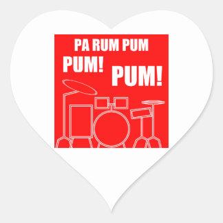 PA-Rum Pum Pum Pum Herz-Aufkleber