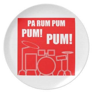 PA-Rum Pum Pum Pum Melaminteller