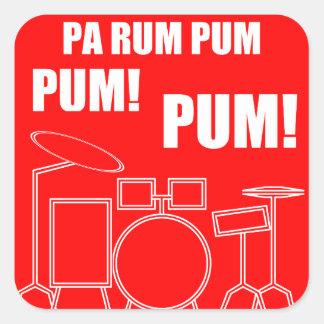 PA-Rum Pum Pum Pum Quadratischer Aufkleber