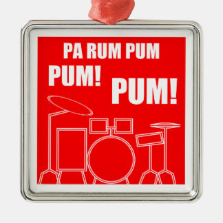 PA-Rum Pum Pum Pum Silbernes Ornament