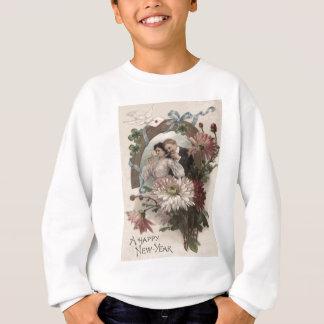 Paar-Champagne-Gänseblümchen-Taube vierblättriges Sweatshirt