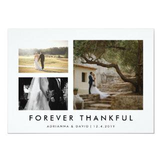 Paar-Foto, das für immer dankbares Minmalist 12,7 X 17,8 Cm Einladungskarte