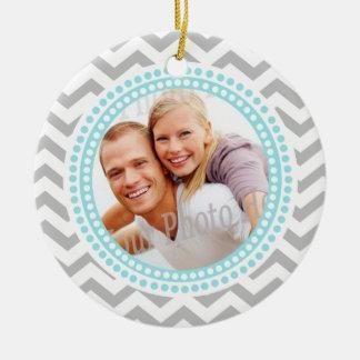 Paar-Foto-Verzierung mit Monogramm Keramik Ornament