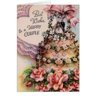 Paar-Hochzeitstorte Karte