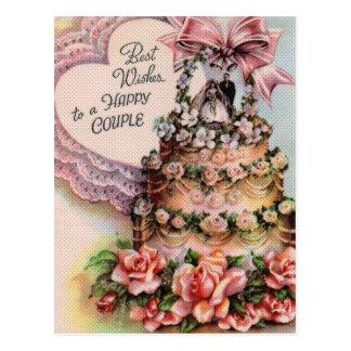 Paar-Hochzeitstorte Postkarte