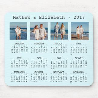 Paar-Namen und Fotos | 2017 Foto-Kalender Mousepad