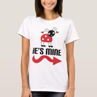 Paar-niedlicher Marienkäfer sie T-Shirt