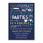 Paar-Party-Blau und Gold