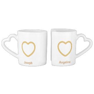 Paar-personalisierte Kaffee-Tasse Liebestassen