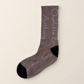 Paar-schokoladenbraune Gewohnheit Socken