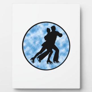 Paar-Skate Fotoplatte