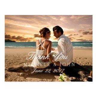 Paar-Strand-Liebe-Beziehungen/danken Ihnen Postkarte