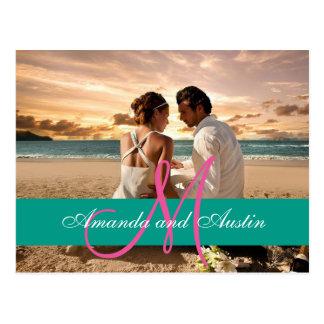Paar-Strand-Liebe-Beziehungens-/Hochzeitseinladung Postkarte