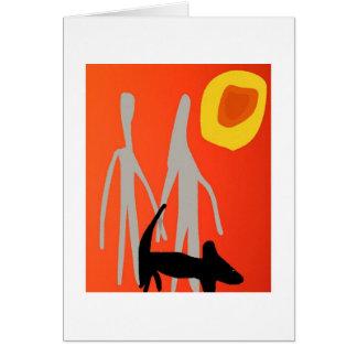 Paar-und HundeLiebe-Karte Karte