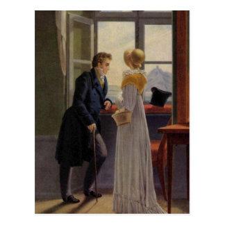 Paare am Fenster Postkarte