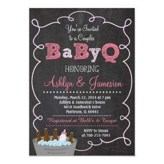 Paare BabyQ GRILLEN Baby-Duschen-Einladung 12,7 X 17,8 Cm Einladungskarte