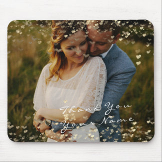 Paare danken Bevorzugungs-Fotogoldenen Mousepad