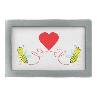 Paare der Bienen Rechteckige Gürtelschnalle
