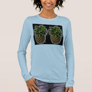 Paare der frechen Ananas Langarm T-Shirt